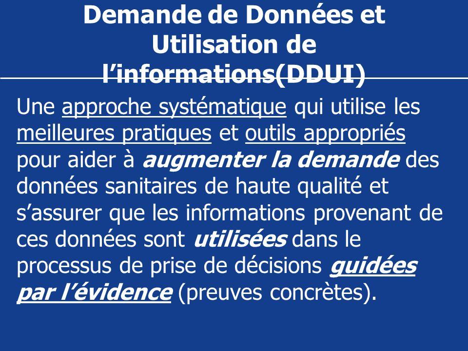 Demande de Données et Utilisation de linformations(DDUI) Une approche systématique qui utilise les meilleures pratiques et outils appropriés pour aide