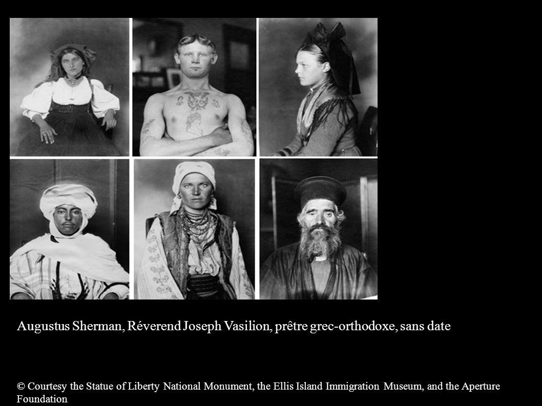 Augustus Sherman, Réverend Joseph Vasilion, prêtre grec-orthodoxe, sans date © Courtesy the Statue of Liberty National Monument, the Ellis Island Immi