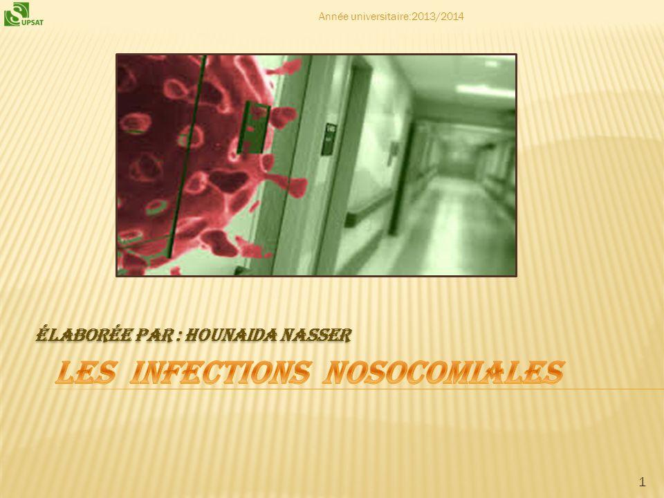 2 Définition dune infection nosocomiale Principaux sites dinfection Portes dentrée Mode de transmission Prévention Conclusion