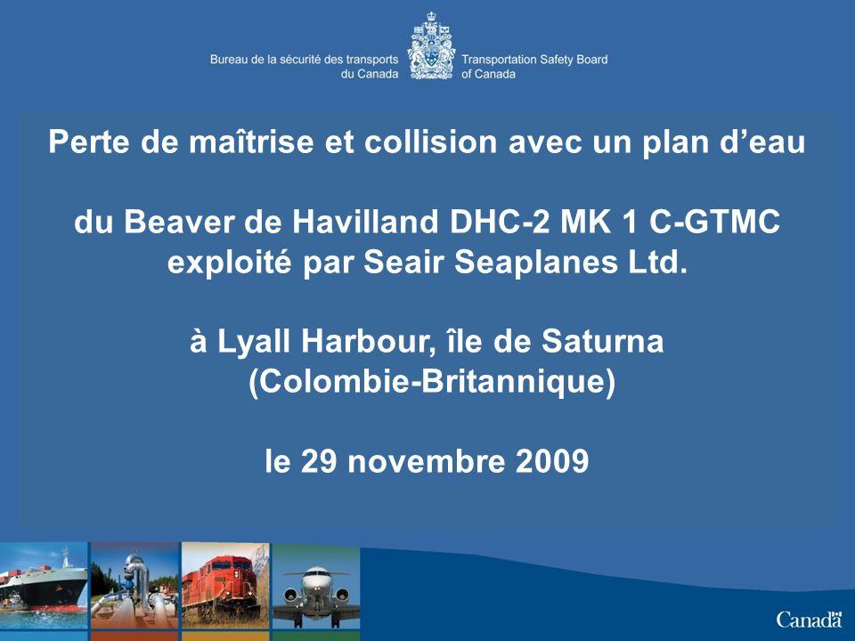 Perte de maîtrise et collision avec un plan deau du Beaver de Havilland DHC-2 MK 1 C-GTMC exploité par Seair Seaplanes Ltd.