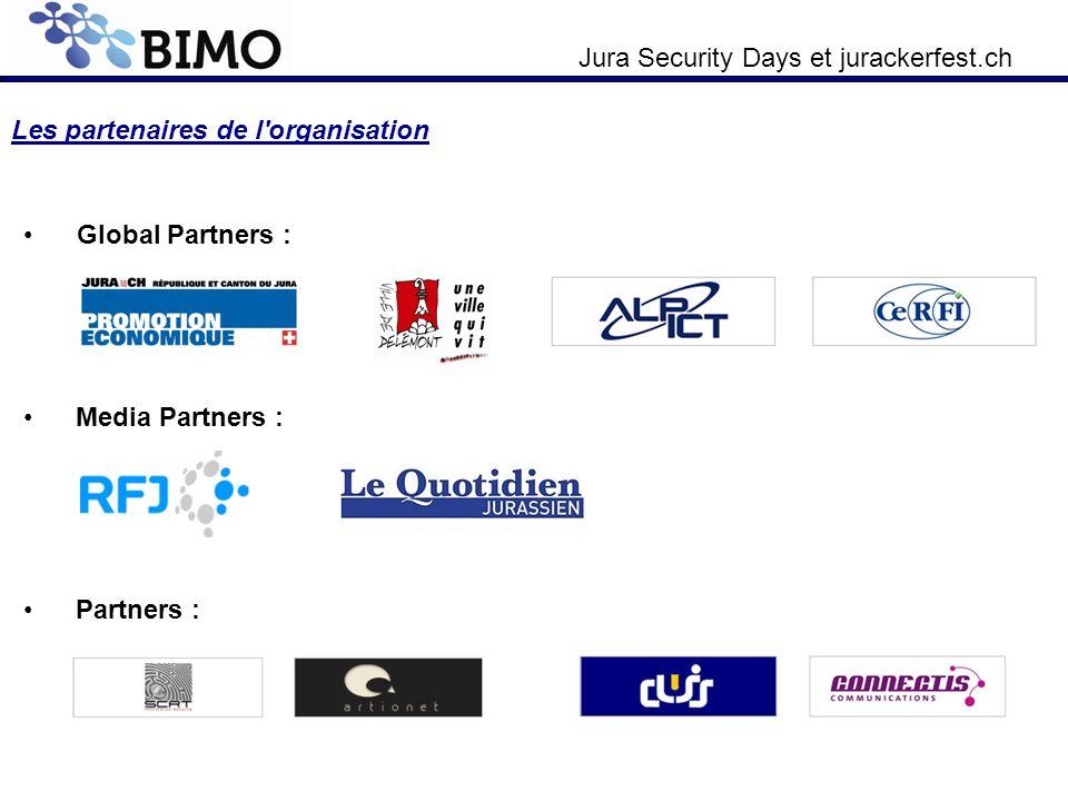 Jura Security Days et jurackerfest.ch Les partenaires de l'organisation Global Partners : Media Partners : Partners :