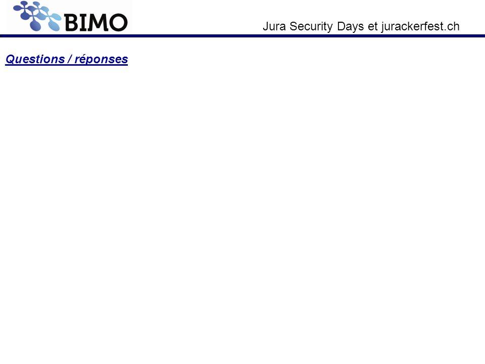 Jura Security Days et jurackerfest.ch Questions / réponses