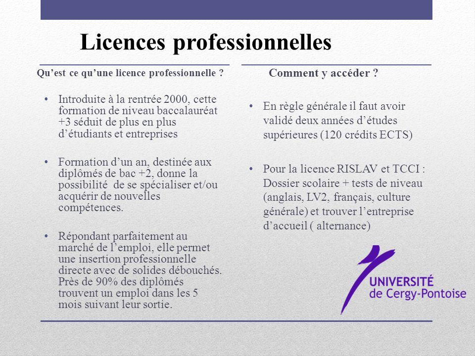 Les parcours « différenciés » permettent à des étudiants issus de parcours différents de postuler à cette licence professionnelle Origine des étudiants en TCCI