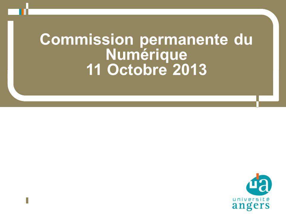 Commission permanente du Numérique 11 Octobre 2013