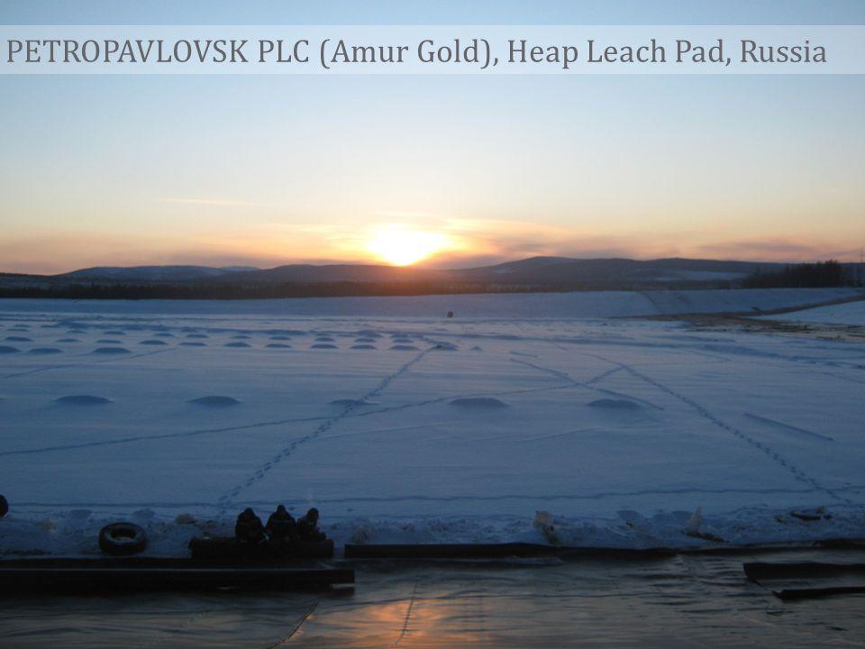 PETROPAVLOVSK PLC (Amur Gold), Heap Leach Pad, Russia