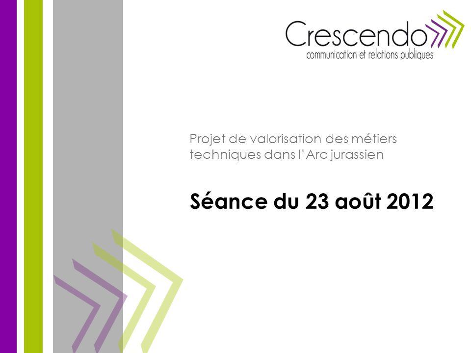 Séance du 23 août 2012 Projet de valorisation des métiers techniques dans lArc jurassien