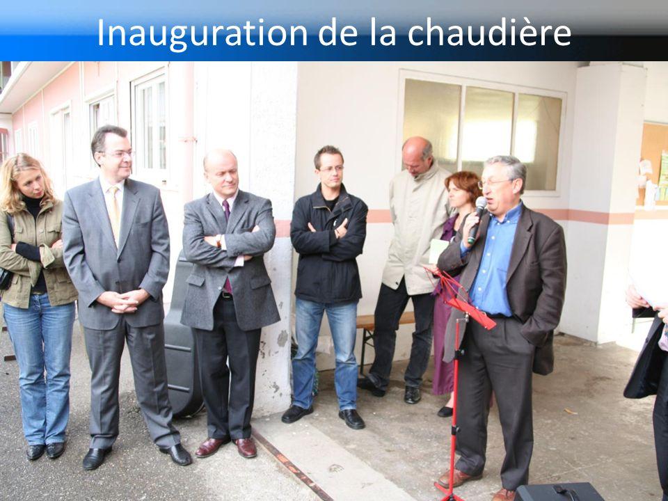 Inauguration de la chaudière