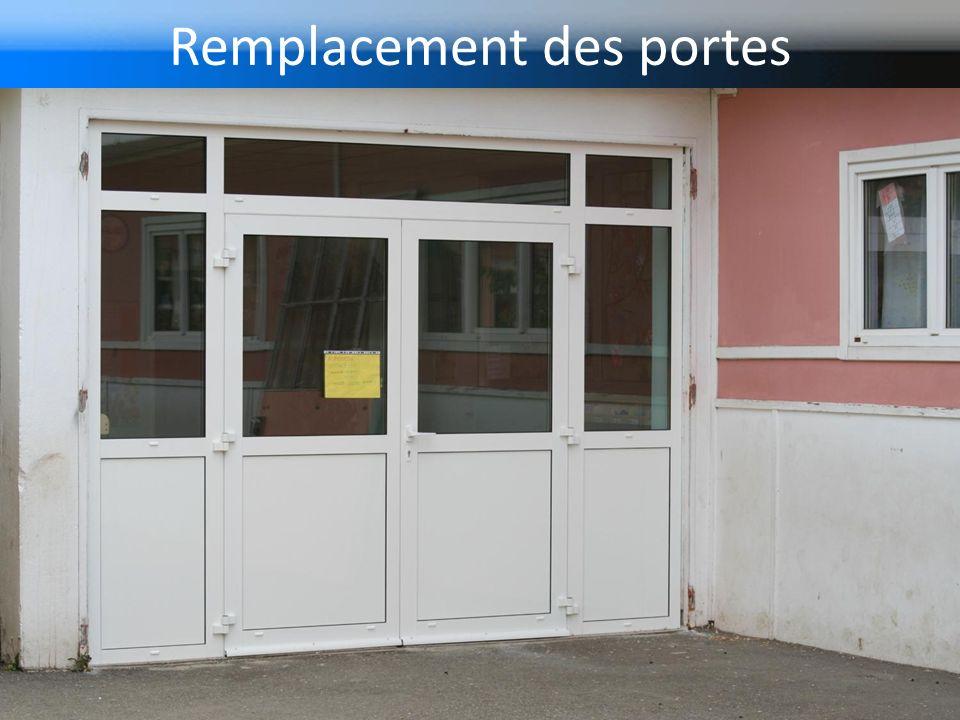 Remplacement des portes