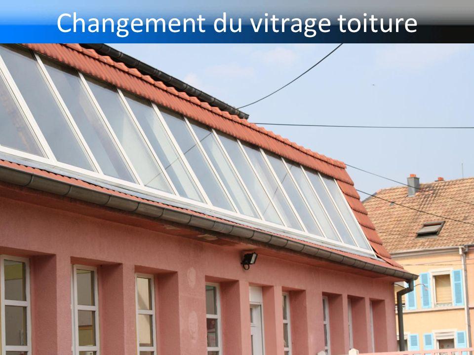 Changement du vitrage toiture