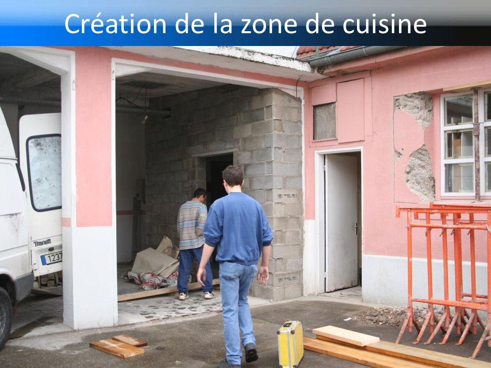 Création de la zone de cuisine