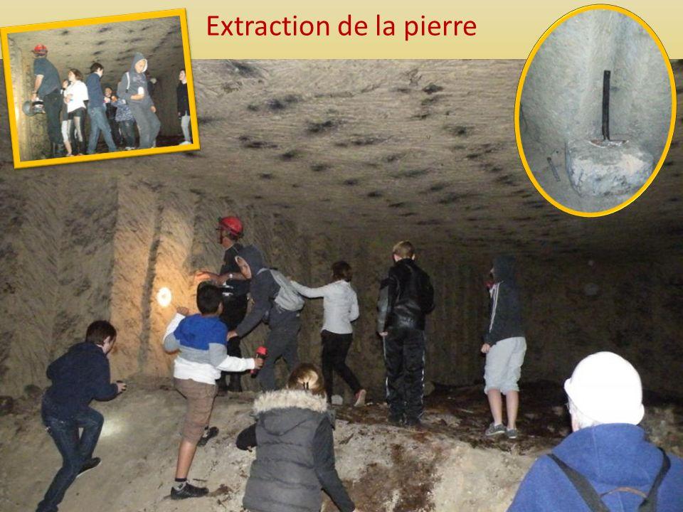 Extraction de la pierre