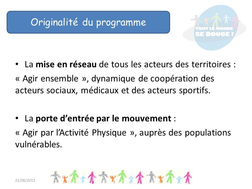 La mise en réseau de tous les acteurs des territoires : « Agir ensemble », dynamique de coopération des acteurs sociaux, médicaux et des acteurs sportifs.