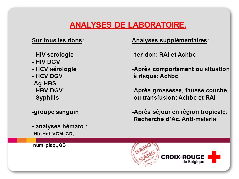 ANALYSES DE LABORATOIRE.