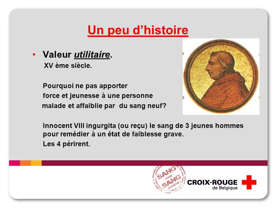 Un peu dhistoire Valeur utilitaire. XV ème siècle.