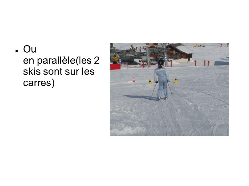 Ou en parallèle(les 2 skis sont sur les carres)