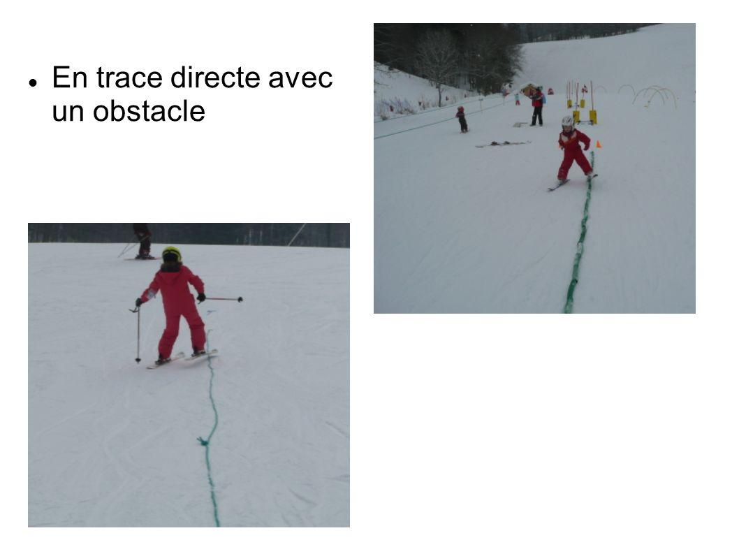 En trace directe avec un obstacle
