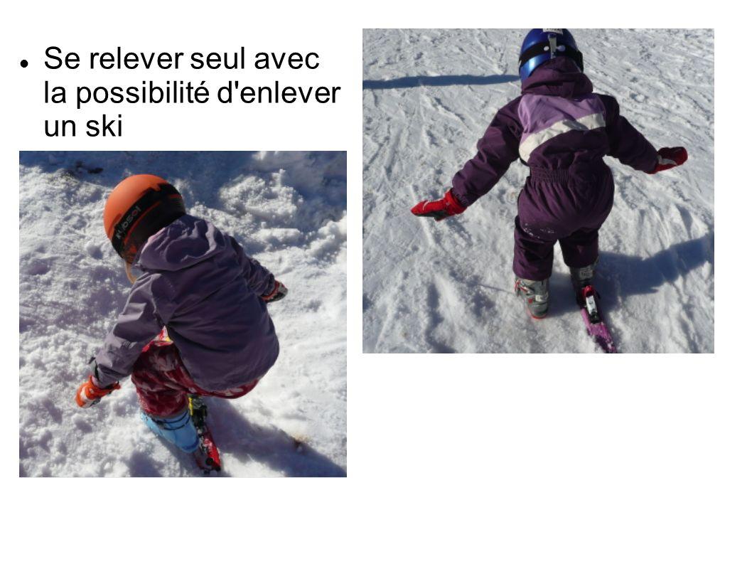 Se relever seul avec la possibilité d enlever un ski