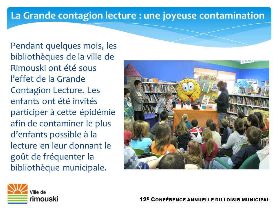 Pendant quelques mois, les bibliothèques de la ville de Rimouski ont été sous leffet de la Grande Contagion Lecture.