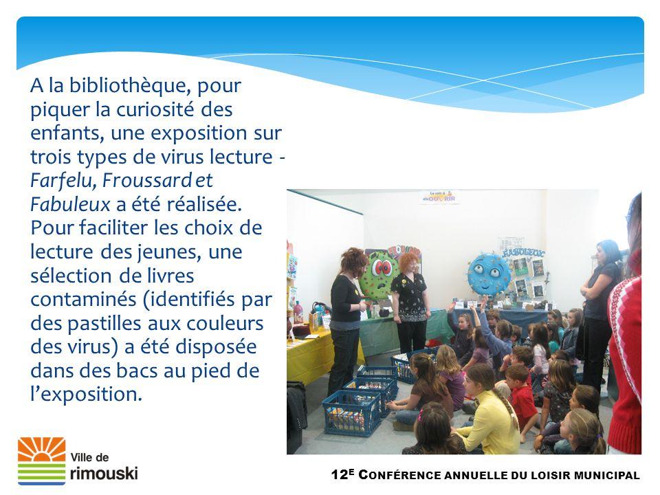 A la bibliothèque, pour piquer la curiosité des enfants, une exposition sur trois types de virus lecture - Farfelu, Froussard et Fabuleux a été réalisée.