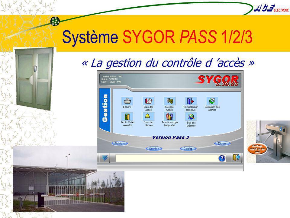Système SYGOR PASS 1/2/3 « La gestion du contrôle d accès »