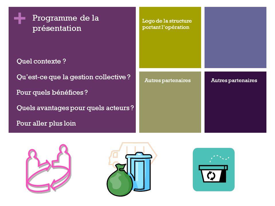 + Production des déchets – Chiffres 2008 en France 345 millions de tonnes de déchets (hors déchets organiques de l agriculture utilisés sur place) construction : 253 Mt, dont plus de 94% de déchets inertes ménages : 29,31 Mt tertiaire : 24,2 M industrie : 23,84 Mt agriculture et sylviculture : 1,3 Mt traitement des déchets, assainissement et dépollution : 13,3 Mt 2 éléments règlementaires La commune na aucune obligation de collecte vis à vis des déchets des entreprises, quels quils soient.