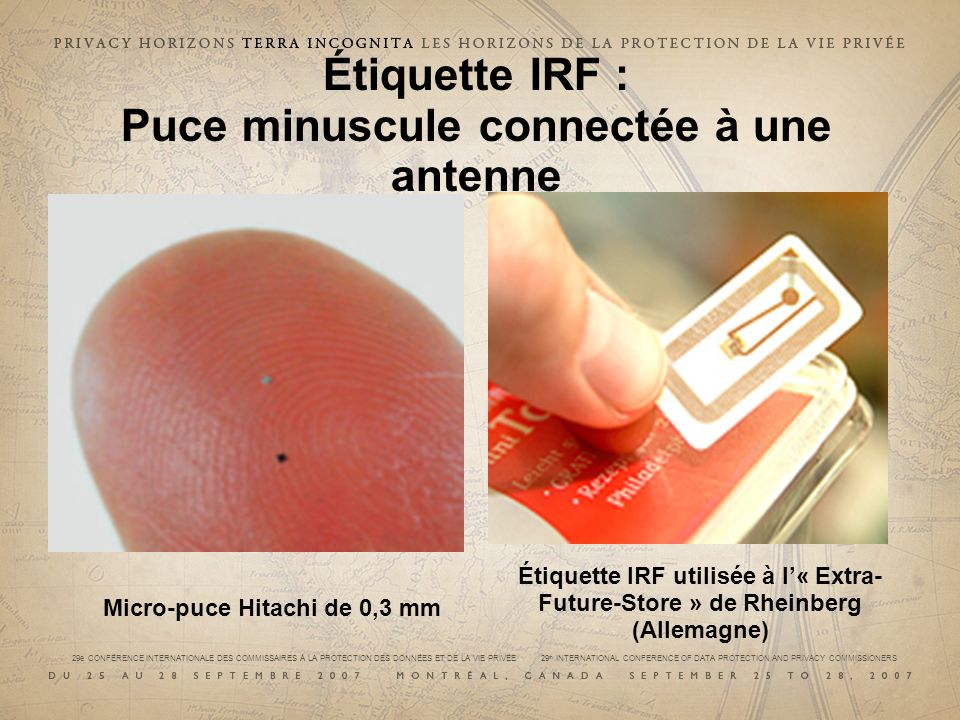 29e CONFÉRENCE INTERNATIONALE DES COMMISSAIRES À LA PROTECTION DES DONNÉES ET DE LA VIE PRIVÉE 29 th INTERNATIONAL CONFERENCE OF DATA PROTECTION AND PRIVACY COMMISSIONERS Lecteur IRF : Envoie un signal à une étiquette, avant de lire la réponse