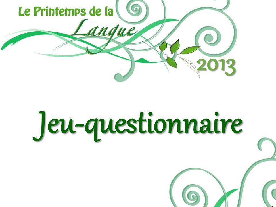 Jeu-questionnaire 2013