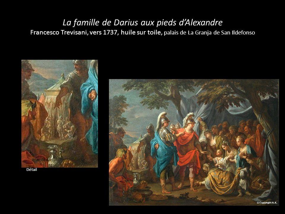 La famille de Darius aux pieds dAlexandre Carle Van Loo, 1755, ébauche de grisaille Détail