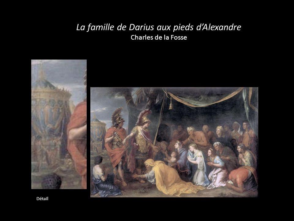 La famille de Darius aux pieds dAlexandre Charles de la Fosse Détail