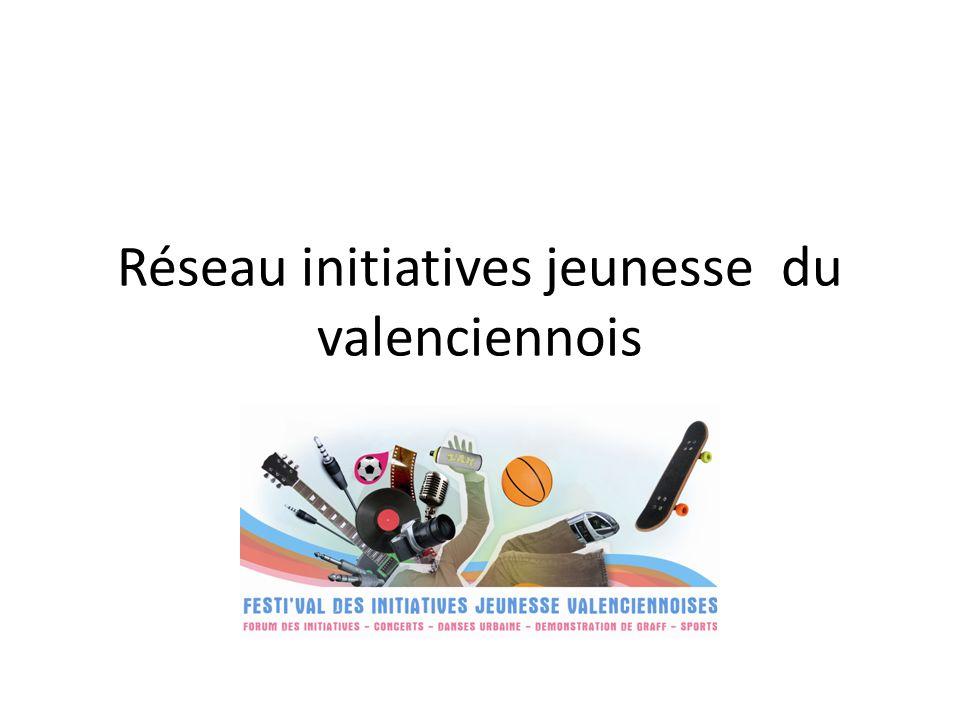 Festival initiatives jeunesse Historique dun projet Ce projet est à linitiative dun groupe de travail initié, en Mars 2009, par le STAJ et dans le cadre de la Plateforme Jeunesse animée par le Conseil Général du Nord, qui a pour thématique les initiatives de jeunes et leur implication sur le territoire du Valenciennois (soit les 82 communes de larrondissement).