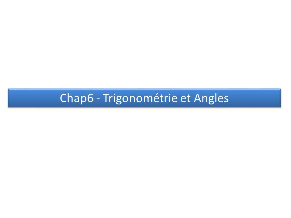 Chap6 - Trigonométrie et Angles