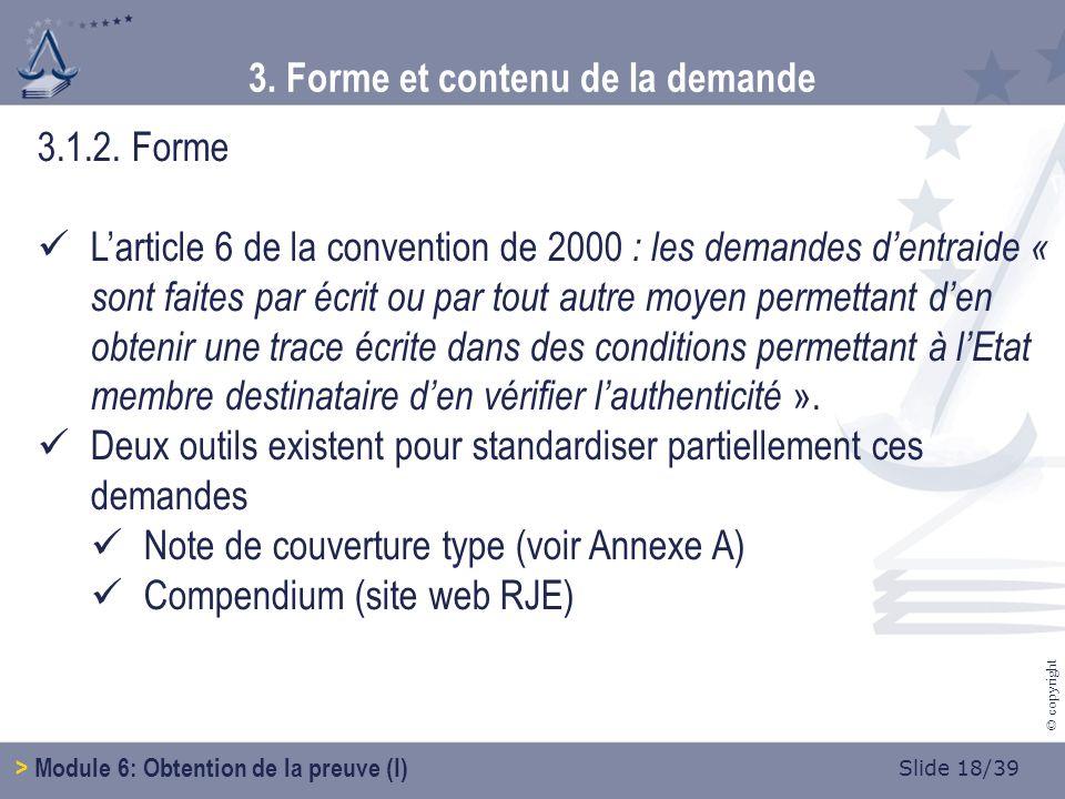 Slide 19/39 © copyright 3.1.2.Forme 3.
