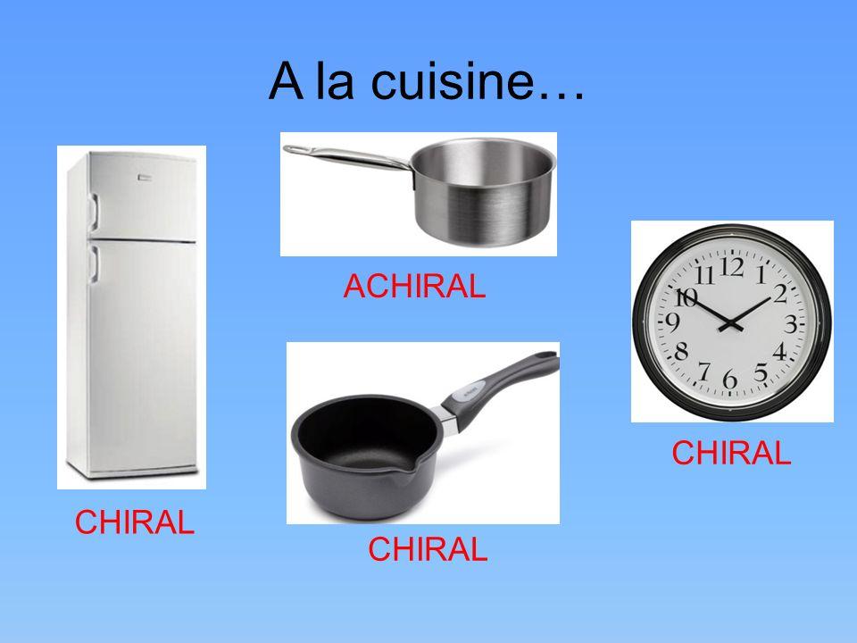 A la cuisine… CHIRAL ACHIRAL CHIRAL