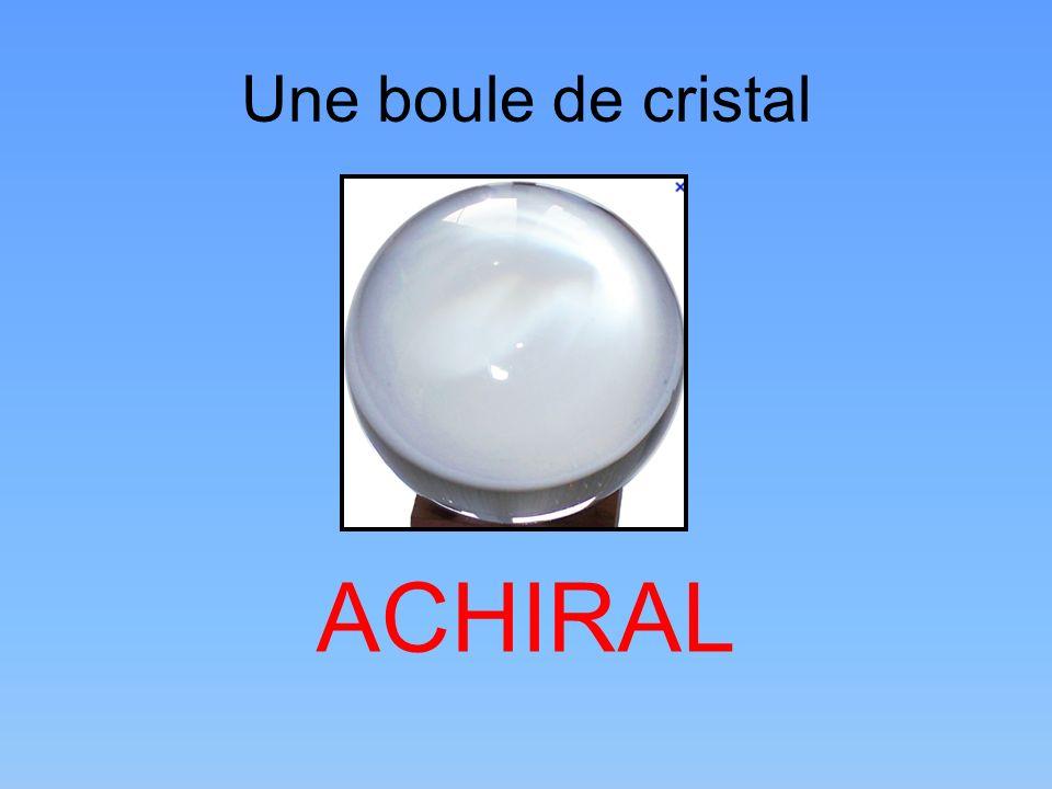 Une boule de cristal ACHIRAL
