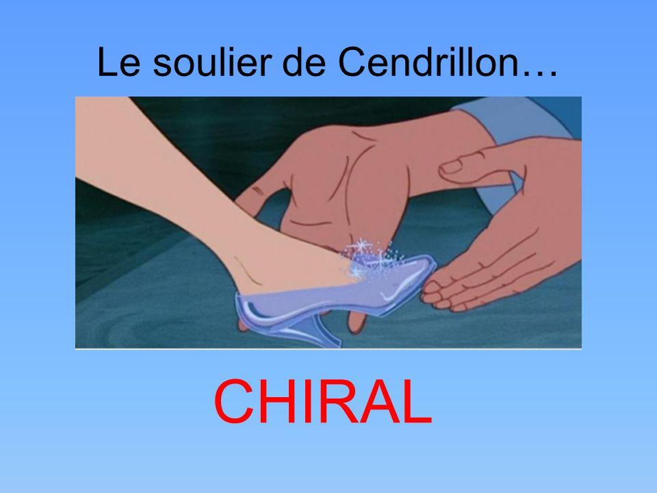 Le soulier de Cendrillon… CHIRAL