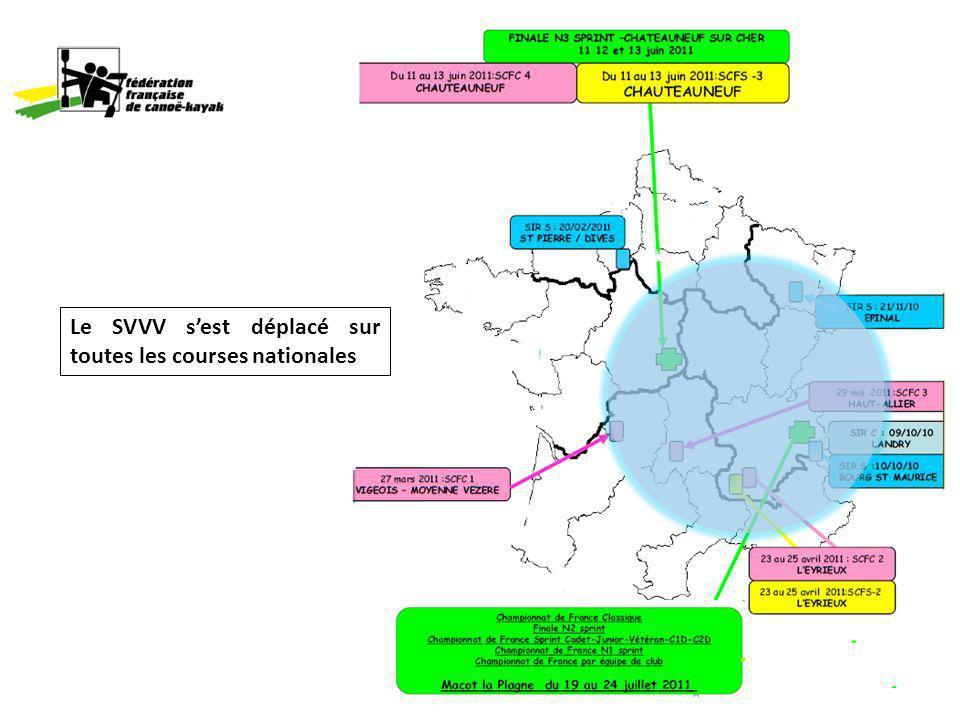 Le SVVV sest déplacé sur toutes les courses nationales