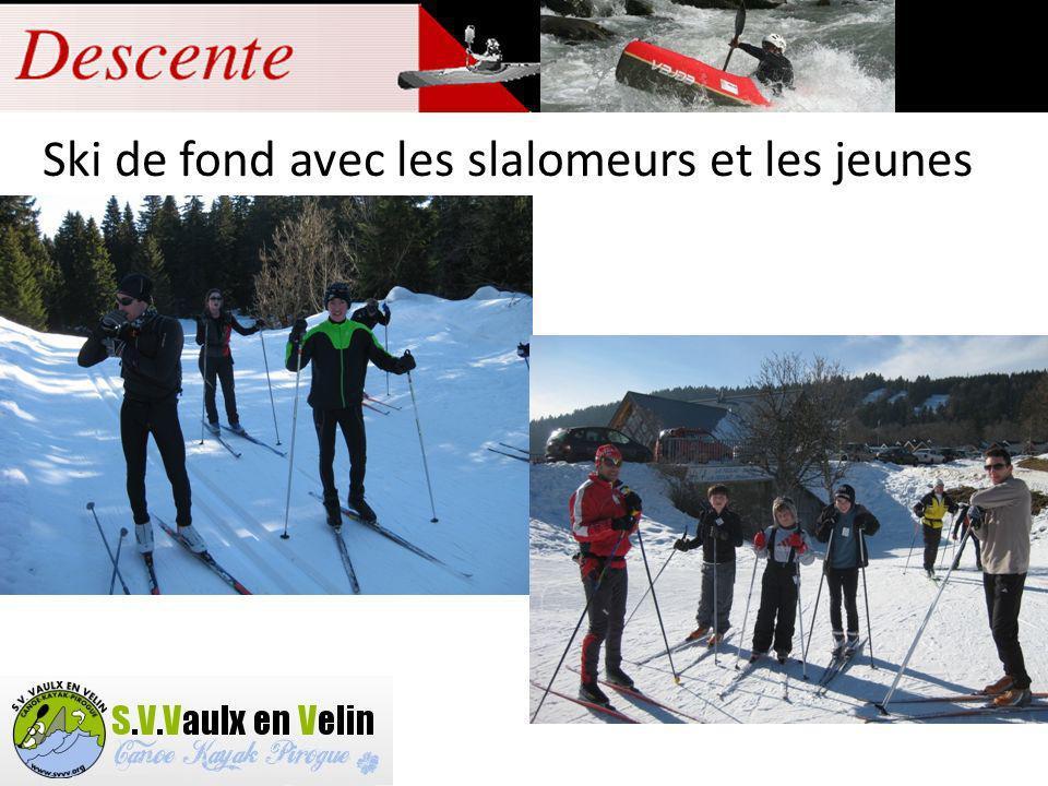 Ski de fond avec les slalomeurs et les jeunes