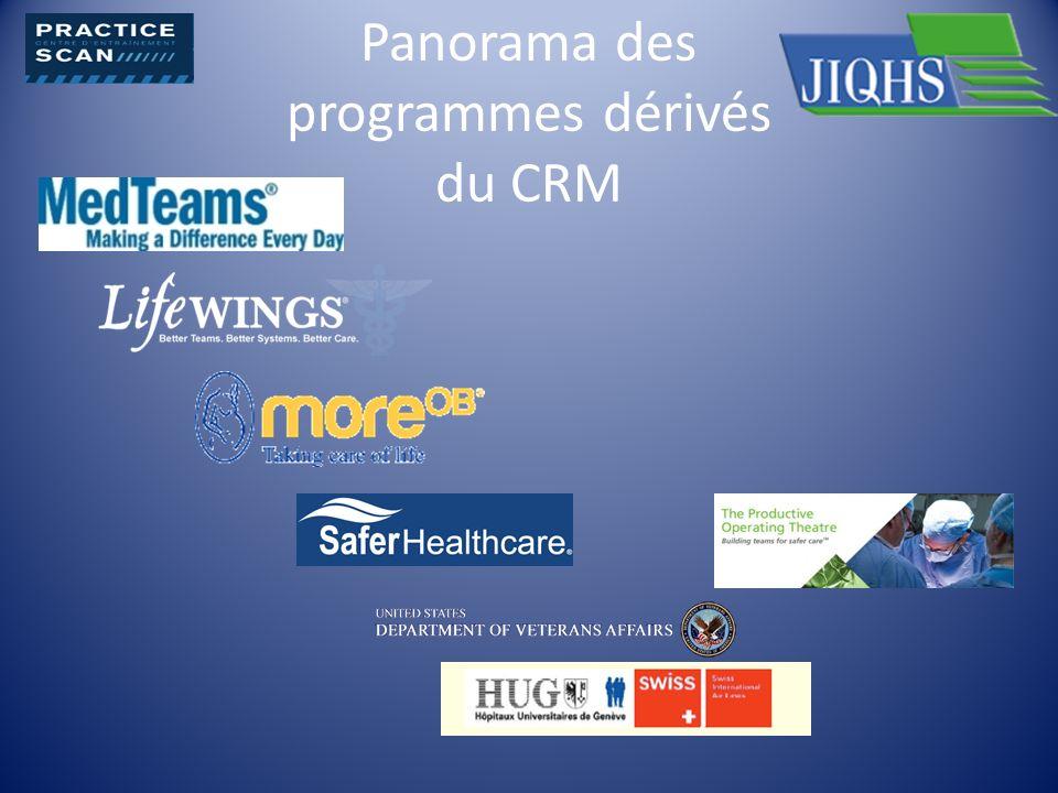 Panorama des programmes dérivés du CRM