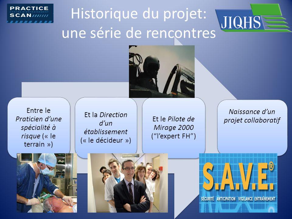Historique du projet: une série de rencontres Entre le Praticien dune spécialité à risque (« le terrain ») Et la Direction dun établissement (« le déc