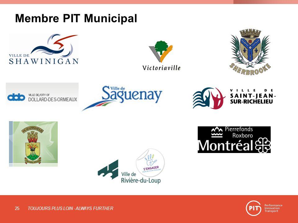 Membre PIT Municipal TOUJOURS PLUS LOIN - ALWAYS FURTHER 25