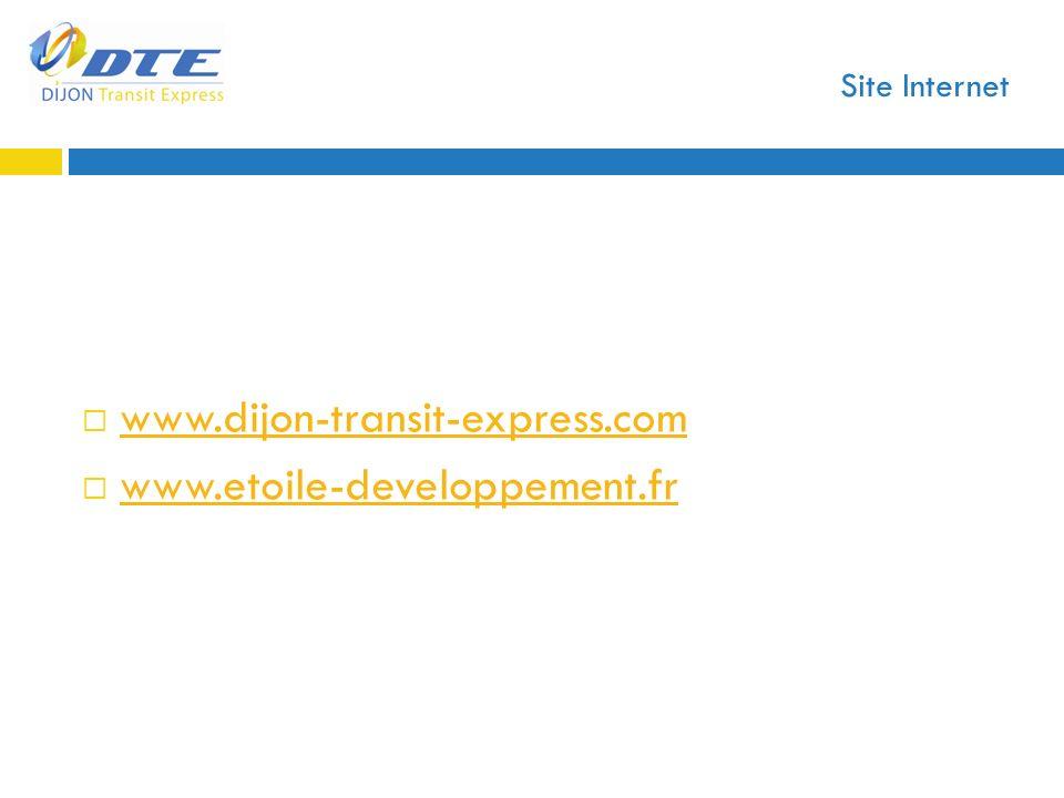Site Internet www.dijon-transit-express.com www.etoile-developpement.fr