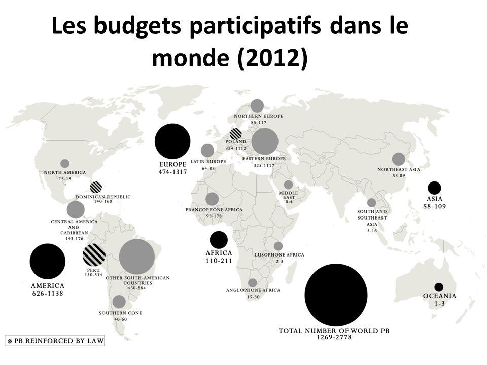 Les budgets participatifs dans le monde (2012)