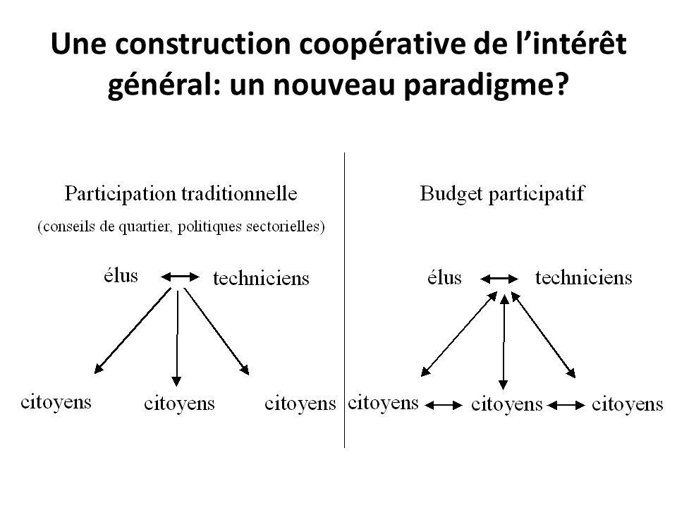 Une construction coopérative de lintérêt général: un nouveau paradigme?