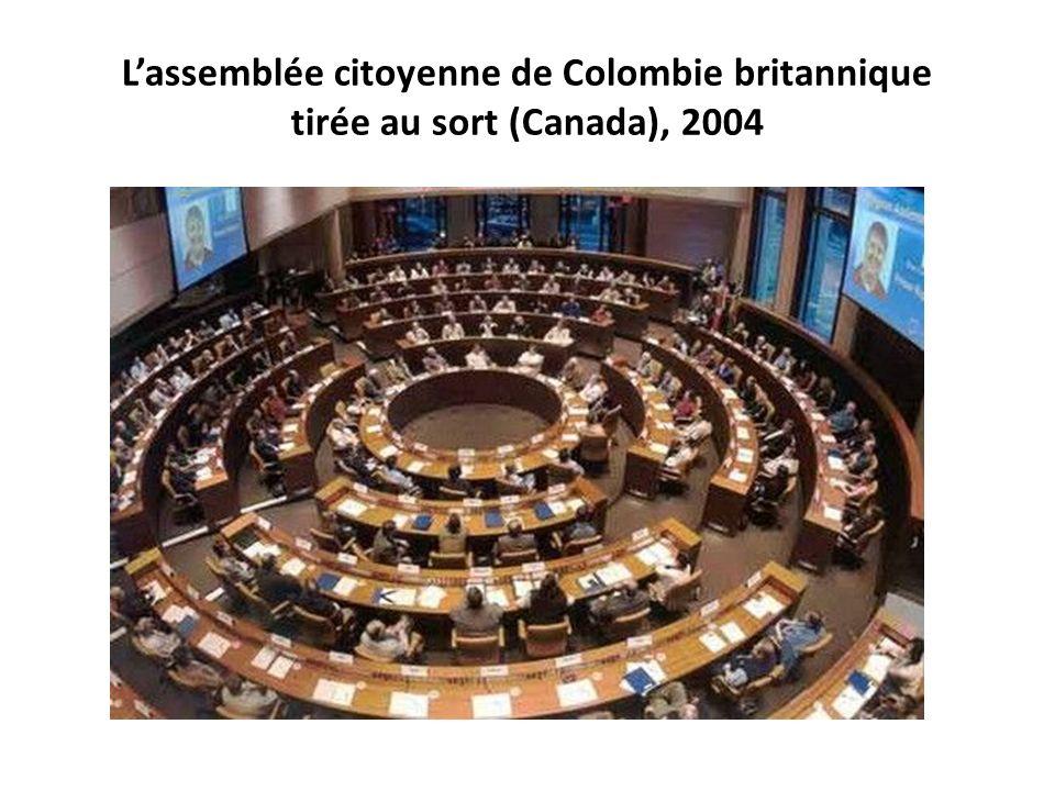 Lassemblée citoyenne de Colombie britannique tirée au sort (Canada), 2004