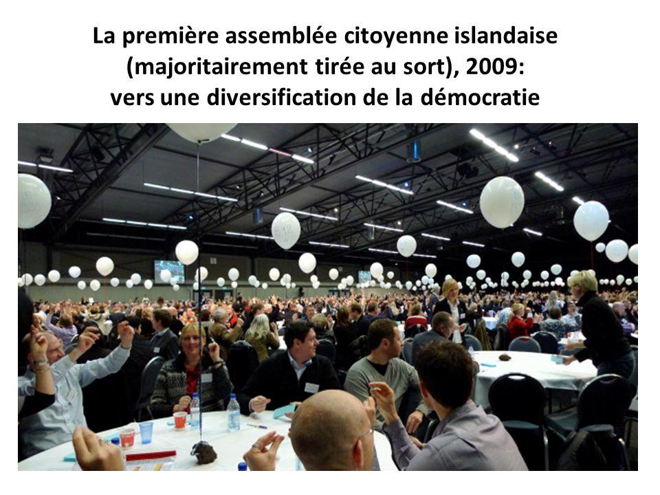La première assemblée citoyenne islandaise (majoritairement tirée au sort), 2009: vers une diversification de la démocratie
