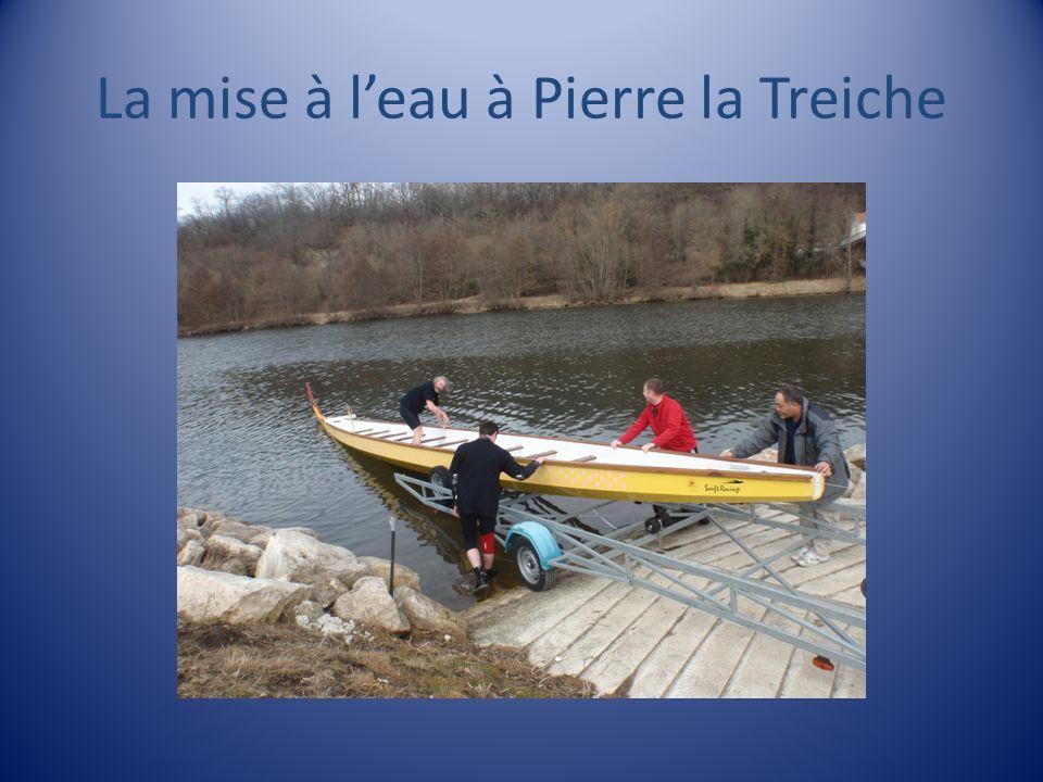 La mise à leau à Pierre la Treiche