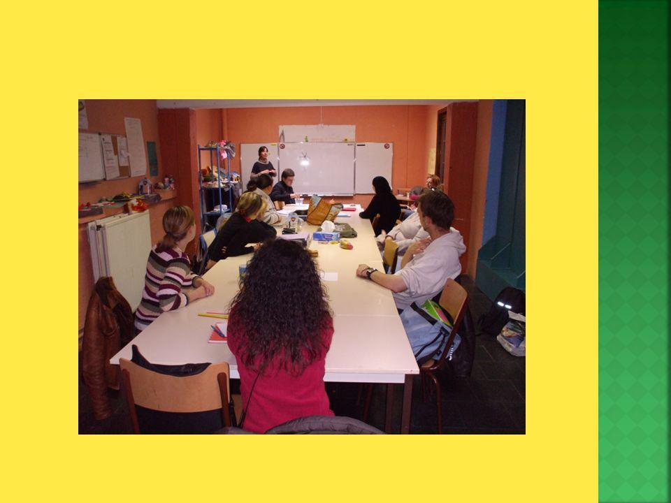 L OISP : -> Cest un organisme dinsertion socioprofessionnelle qui a pour objectifs la formation dadultes qui ont peu accès aux formations classiques -> Plus de 30.000 heures de formation par an Le CAPE – accueil extra scolaire : -> Cest un service agréé par lONE comme Centre de vacances et reconnu comme Ecole de devoirs par la Communauté Française Forma Coaching : -> Cest un service de formation et dintervention pour le mieux-être au travail et dans la vie quotidienne