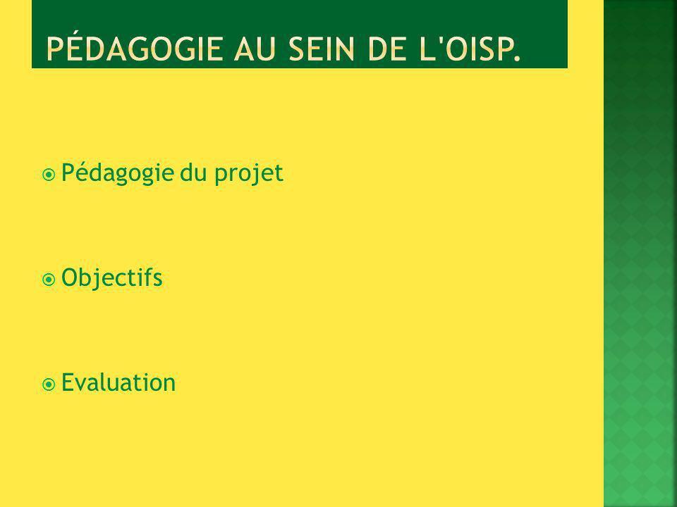 Pédagogie du projet Objectifs Evaluation