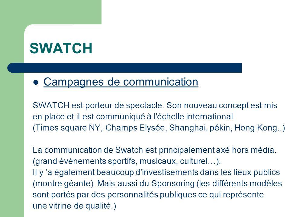 SWATCH Campagnes de communication SWATCH est porteur de spectacle.