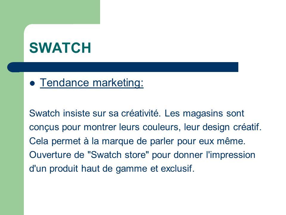 SWATCH Tendance marketing: Swatch insiste sur sa créativité.